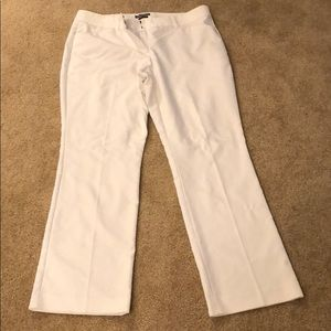 White Editor pants from Express